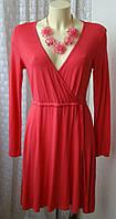 Платье женское легкое летнее яркое вискоза стрейч мини бренд H&M р.46-48 5544