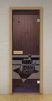 Стеклянная дверь БАННЫЙ ДЕНЬ ALDO 790х1990 мм