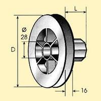 Колесо 170 для шнура защитных роллет