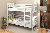 Ліжко двоярусне з натурального дерева Сонька