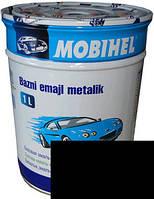 """600 Автоэмаль базовая """"металлик"""" Helios Mobihel """"Черная UNI"""", 1л"""
