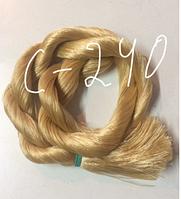 """Волос для кукол, синтетика. Модель - """"Карина C-240"""".  В срезе."""