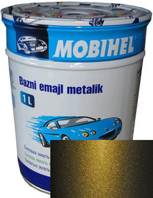"""347 Автоэмаль базовая """"металлик"""" Helios Mobihel """"Золото инков"""", 1л"""
