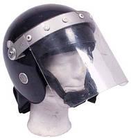 """Шлем полиции Великобритании с забралом и защитой шеи, """"GB RIOT"""" б/у"""