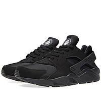 "Зимние кроссовки на меху Nike Huarache Fur ""Triple Black"" - ""Черные"" (Копия ААА+), фото 1"