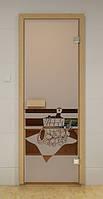 Стеклянная дверь для сауны и бани БАННЫЙ ВЕЧЕР ALDO 790х1990 мм