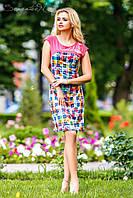 Платье женское летнее приталенное микромасло