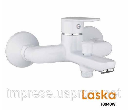 Смеситель для ванны Laska 10040W (белый)