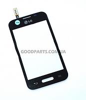 Сенсорный экран (тачскрин) для LG D170 Optimus L40 черный high copy