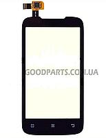 Сенсорный экран (тачскрин) для Lenovo A369i черный (Оригинал)