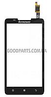 Сенсорный экран (тачскрин) для Lenovo A656, A766 черный (Оригинал)