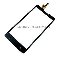 Сенсорный экран (тачскрин) для Lenovo P780 черный (Оригинал)