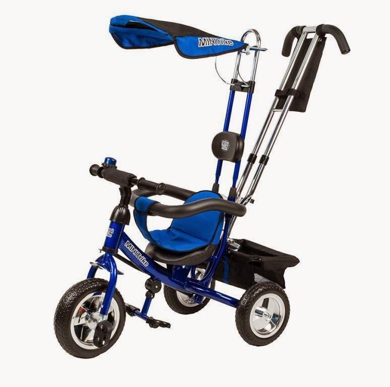 Детский велосипед Mars трехколесный Mini Trike LT950 синий