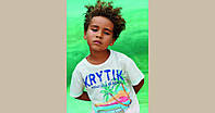Итальянская футболка пальмы, море, автомобиль мал. белый 100 % хлопок 89370/KR/00A Krytik,  Италия