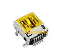 Разъем зарядного устройства Mini USB 10 pin короткий