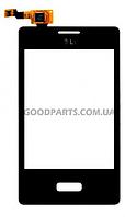 Сенсорный экран (тачскрин) для LG E400, E435 Optimus L3 черный (Оригинал)