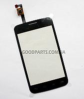 Сенсорный экран (тачскрин) для LG E405 Optimus L3 черный (Оригинал)