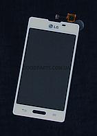 Сенсорный экран (тачскрин) для LG E450, E460 Optimus L5 белый high copy