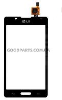 Сенсорный экран (тачскрин) для LG P713, P710 Optimus L7 II черный high copy