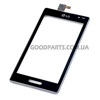 Сенсорный экран (тачскрин) для LG P760 Optimus L9, P765 Optimus L9, P768 черный (Оригинал)