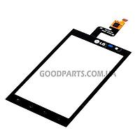 Сенсорный экран (тачскрин) для LG P920 Optimus 3D черный high copy