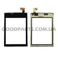 Сенсорный экран (тачскрин) для Nokia 300 Asha черный high copy