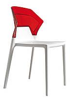 Стілець Ego-S сидіння Біле верх Прозоро-помаранчевий (Papatya-TM), фото 3