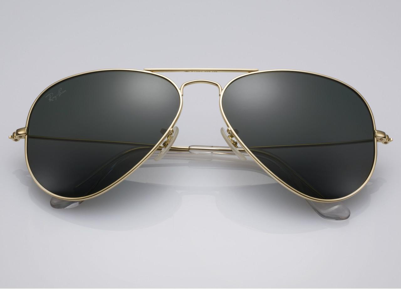 Очки Ray Ban 3025 3026 Aviator Black стекло комплект, копия солнцезащитные a600bf23c1e