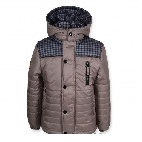"""Стильная качественная куртка """"Ferarry"""" (Серая ) на мальчика."""