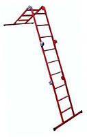 Лестница металическая шарнирная трансформер МЕТАЛ 4*3   3,7м 18кг