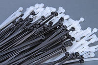 Стяжка (хомут) кабельная, 8*250, черная, белая
