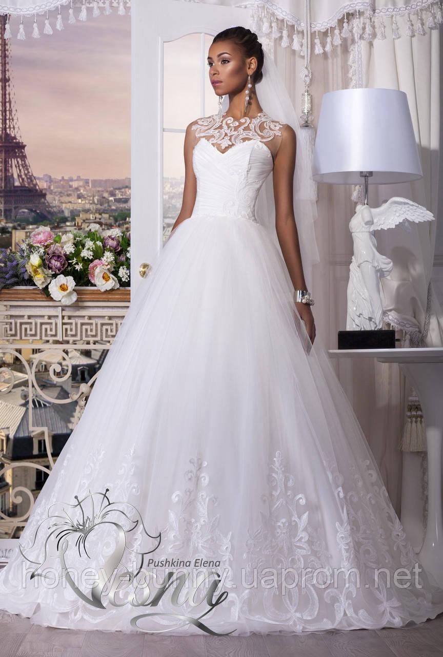 """Прокат 3000 грн. Свадебное платье """"Выбор сердца"""" с бретелями"""