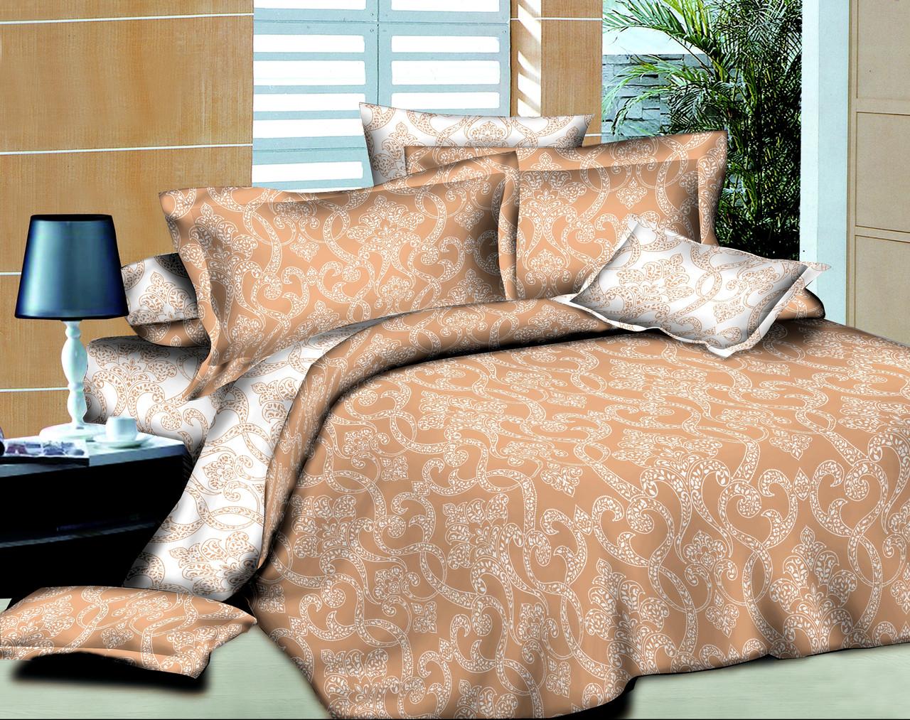 Полуторный комплект постельного белья 145х215 Ажур Беж