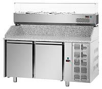 Холодильный стол для пиццы 2 двери Tecnodom PZ 02 MID 80