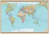 акКРТ К Стена Світ Політична 1:22000 Навчальна картон 108*158