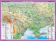 Стена Україна Фізична 1:1 000 000 ламинат ПЛАНКА 105*148