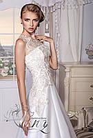 7e2106b2c94 Свадебное платье из атласа А-силуэт