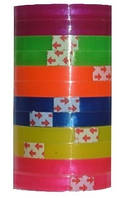 Скотч цветной 8мм*35мм в упаковке (12 шт)