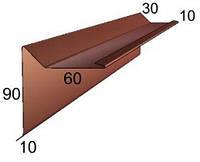 Спецпланка торцевая из оцинкованного окрашенного металла (RAL)
