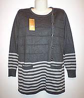 Женская туника большого размера №0025 (серый)