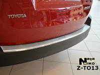 Накладка на задний бампер на Тойота RAV-4 с 2013> (нерж) с загибом NataNico.