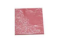 Салфетки бумажные Марго розовые (33х33 cм)