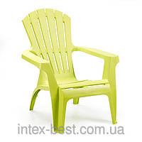 Пластиковое кресло Dolomiti желтое