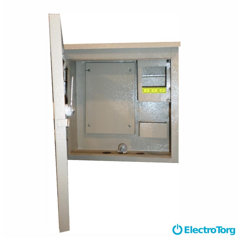 Щит обліку / шафа обліку ЩУР, ЩУ, ШУ герметичний, розподільчий під 1 фазний електронний лічильник 6 модулів (250х250х100) Berd