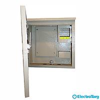 Щит учета / шкаф учета ЩУР, ЩУ, ШУ герметичный, распределительный под 1 фазный электронный счетчик 6 модулей (250х250х100) Berd