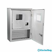 Щит учета / шкаф учета ЩУР, ЩУ, ШУ герметичный, распределительный под 3 фазный счетчик 1-10 модулей (430х260х130) 2-х дверный Berd