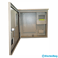 Щит учета /шкаф учета ЩУР, ЩУ, ШУ герметичный, распределительный под 3 фазный электронный счетчик 8 модулей (320х320х140) Berd