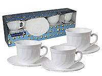 Набор Чайный Luminarc Trianon (Белый) 220мл