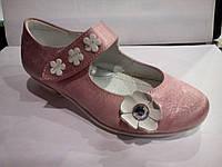 Праздничные туфельки на каблучках 25 размера для девочки/Святкові туфлі на підборах 25 розміру для дівчинки. Т