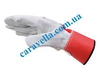 Спилковые перчатки с манжетой, код 0899400251